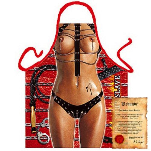 trag-das bedruckte Karneval Grillschürze - sexy Motiv: Domina - coole lustige Fasching Party Koch Schürze Latzschürze - Pferd Kostüm Zeigen