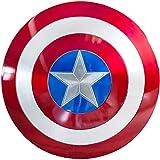 Lydia's Anime Capitán América Escudos Marvel Legends Los Vengadores Todo Metal Aleación De Aluminio Riot Escudo De Mano 57CM