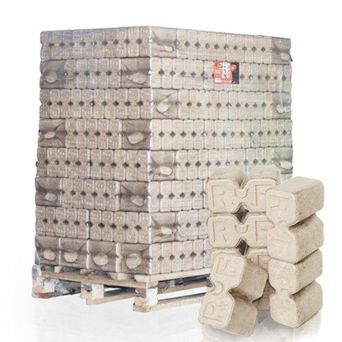 PALIGO RUF Holzbriketts Duplex Hartholz Eiche Kamin Ofen Brenn Holz Heiz Brikett 10kg x 96 Gebinde 960kg / 1 Palette HEIZFUXX®