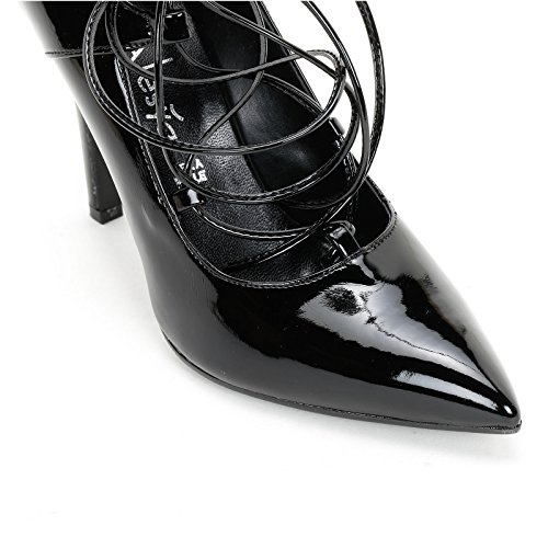 ALESYA by Scarpe&Scarpe - Scarpe col Tacco con allacciatura, in Vernice Nero