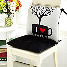 CLG-FLY sedia da pranzo cuscino imbottito cuscino pad Ufficio Studenti e inverno cuscini di seduta in Aula un cuscino,unico cuscino 40x40cm,albero nero