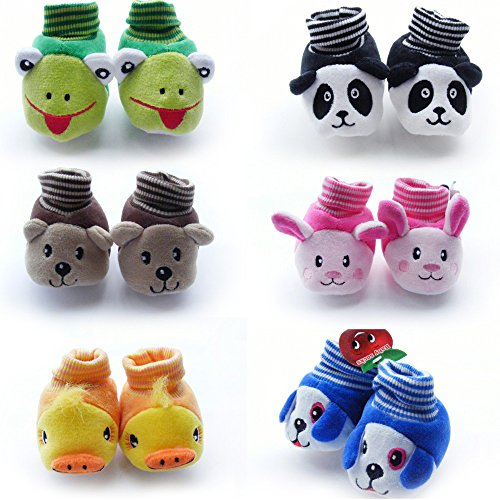 HOME CUBE Born Baby Fancy Cartoon Face Socks cum Shoes ( Random Design / Color ) Set Of 1 Pair
