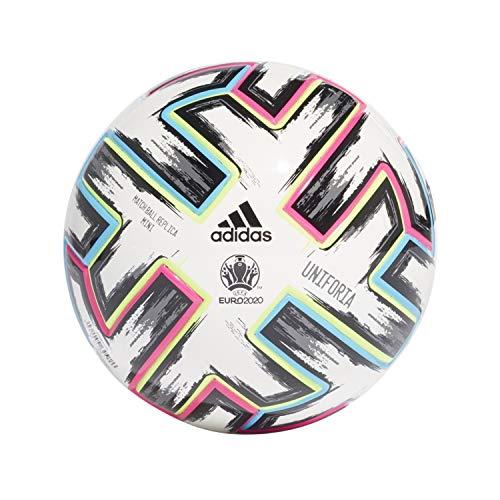Adidas Balón Fútbol Uniforia Mni Euro 2020, Color Blanco