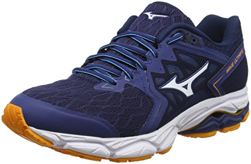 Mizuno Wave Ultima 10, Zapatillas de Running para Hombre, Azul (Estate Blue/White/Flame Orange 01), 44 EU