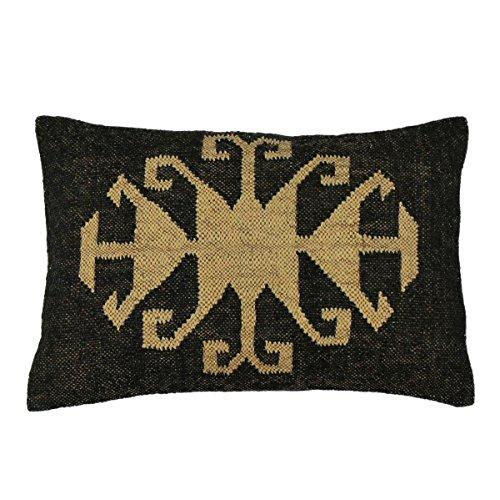 Kelim Kissen aus Jute & Wolle inkl. Füllung orientalisch Dekokissen Zierkissen Sofakissen ca. 60x40 cm