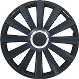 Autostyle Satz Radzierblenden Spyder 16-Zoll Schwarz + Chrom Ringe