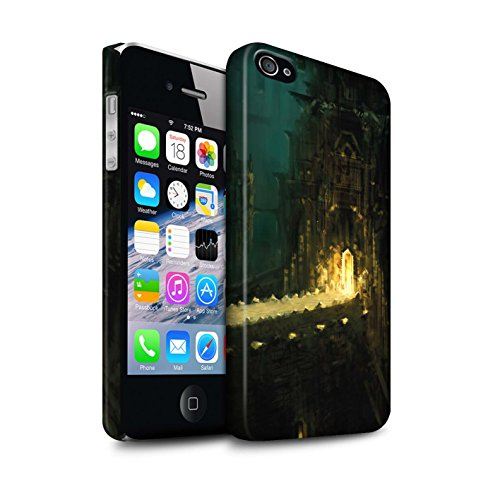 Offiziell Chris Cold Hülle / Matte Snap-On Case für Apple iPhone 4/4S / Schiffswrack Muster / Gefallene Erde Kollektion Dragonfel Tempel
