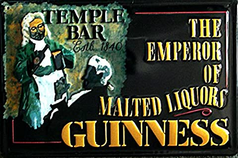 Guinness–The Temple Bar Plaque en métal 30x