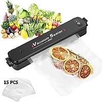 Vacuum Sealer by iado, 3-in-1 Automatic Food Sealer with 15 Reusable Vacuum Sealing Bags, Home Vacuum Packaging Machine, Hassle Free