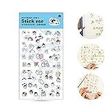 AOLVO Ephemera Lot (Lot de 60), Kawaii Style Japonais DIY Stickers Autocollant décoratif Collection pour Le Scrapbooking