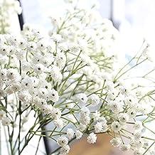 Sukisuki Gypsophila - Ramo de flores artificiales (1 unidad), blanco, talla única