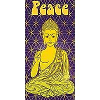 UniqueTowel Toalla de baño Ducha - Buda meditación Paz - Grande ...