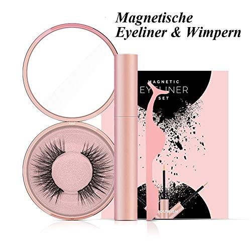 Magnetische Wimpern, Magnetic Eyeliner, 3D Künstliche Magnetische Wimpern, 5 Magnete Wimpern Mit Wasserdichtem Langlebigem