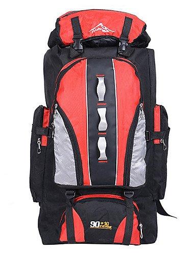 ZQ 90 L Tourenrucksäcke/Rucksack / Laptop-Rucksäcke / Travel Duffel / Travel Organizer / RucksackCamping & Wandern / Angeln / Legere Sport / Red