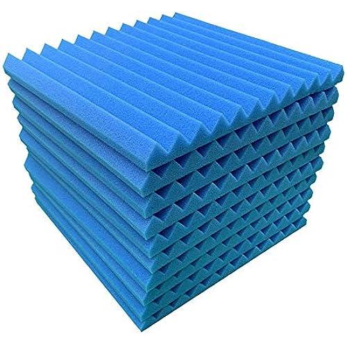 Pannello fonoassorbente in schiuma fonoassorbente per KTV Home Theatre, 30 x 30 x 2,5 cm (blu)