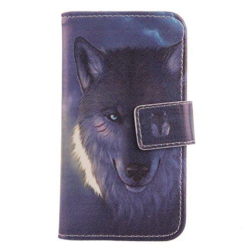 Lankashi PU Leder Handyhülle Tasche Handy Hülle Case Cover Schutzhülle Für Phicomm ENERGY L 5