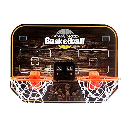 BXWQPP Elektronischer Torschütze Basketballkorb Hängendes Log Karton Double Basketballständer Kinder im Outdoor und Indoor Basketballanlage Korbanlage Stabile