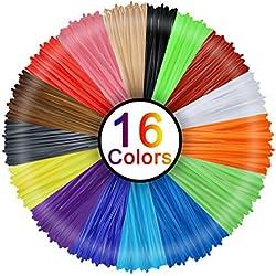 Filamento 3d de lápiz, Rusee, 16colores, 5m, Filamento PLA de lápiz 3d, filamento de tinta, 1,75mm, impresión 3d, juego de colores para lápiz 3d, impresoras 3d, boli 3d