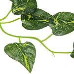 Luwu-Store Reptile Terrarium Artificial Sharp Leaves Scindapsus Aureus Chameleon Lizard Decoration Habitat Non-Toxic 8