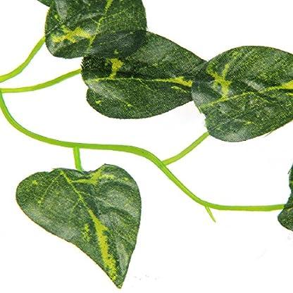 Luwu-Store Reptile Terrarium Artificial Sharp Leaves Scindapsus Aureus Chameleon Lizard Decoration Habitat Non-Toxic 3