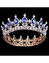 HerZii - Corona de cristal con cristales brillantes para accesorios de boda, tiaras o fiesta