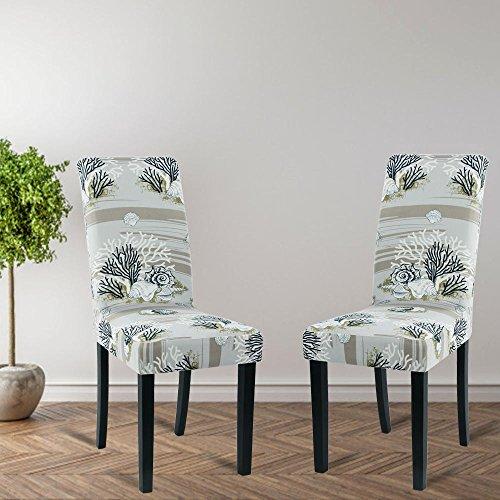 Fundas para sillas paquete de 2, estirable, lavable, elásticas ...