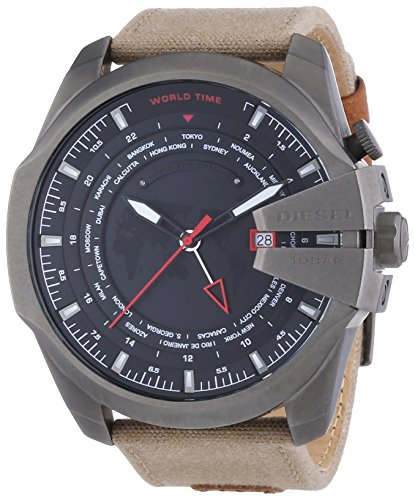 Diesel DZ4306 - Reloj de cuarzo para hombre, con correa de cuero, color marrón