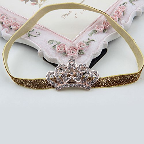 Baby Kids Crystal Crown Hair Band Princess Headwear Diamond Bridal Soft Prom Fabric