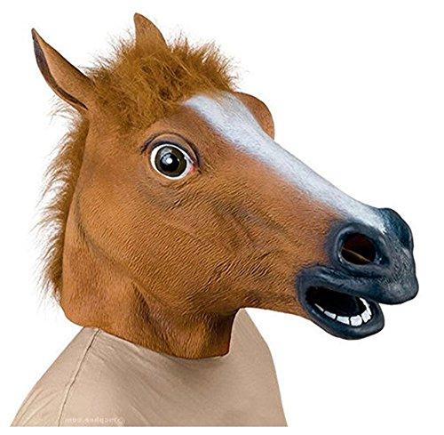 Koobea lattice di gomma animale cavallo testa maschera,novità halloween costume partito decorazioni