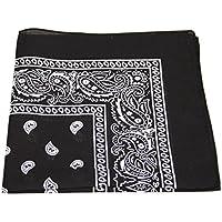 [vendedor UK] Bandana Cabeza Bufanda Bufandas De Cachemira muchos colores 100% algodón (Negro)