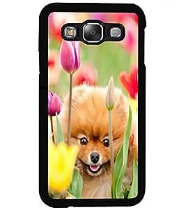ColourCraft Cute Puppy Design Back Case Cover for SAMSUNG GALAXY E5