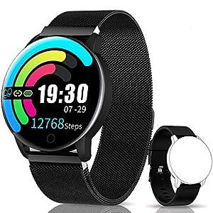 NAIXUES Smartwatch, Reloj Inteligente IP67 con Presión Arterial, 10 Modos de Deporte, Pulsómetro, Monitor de Sueño, Notificaciones Inteligentes, Smartwatch Hombre Mujer para iOS y Android 4