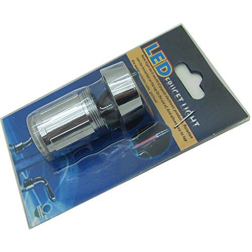 365-Shopping 2er Set Wasserhahn-Aufsatz mit automatischem Farbwechsler durch Wasserkraft - 7 LED Farbwechsler LED Shower mit Beleuchtung -