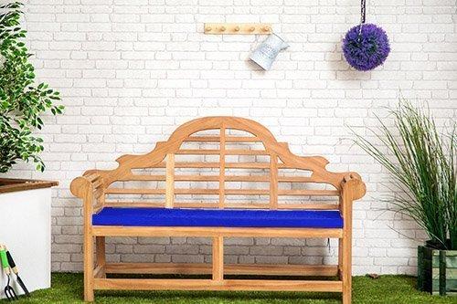 Gardenista Wasserabweisend Lutyens Gartenbank Kissen in blau-groß