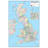 Wallpops Britse eilanden Dry Erase kaart