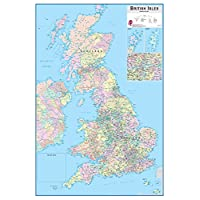 Wallpops WPE0593 British Isles Dry Erase Map - Multi-colour
