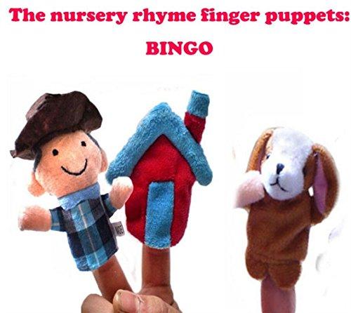 Marionnettes 3 Pcs Marionnettes BINGO Song Learning Props Marionnette à doigt