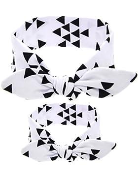 Kanggest - Set di fasce con nodo per mamma e figlia, stile orecchie di coniglio, 2 unità