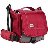 Mantona SportsBag SLR-Kameratasche  rot (sportlich kompakte Umhängetasche) für Bridge Kameras und Micro SLR