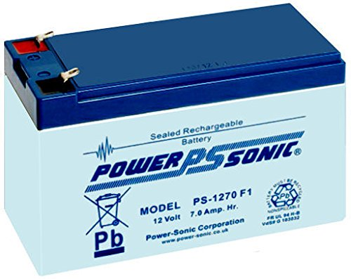 Power Sonic PS1270 12V 7Ah AGM Rechargeable Battery - Suitable for Alarms, CCTV, Access Control etc.. -