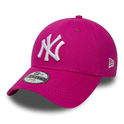New Era Kinder Jungen Baseball Cap Mütze Strapback MLB Basic New York Yankees 9Forty Adjustable Unisex YTH Pink