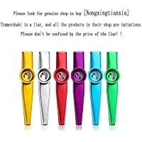 6 Pcs Metal Kazoo Musical Instruments Different Colors Good Companion for Guitar, Ukulele, Violin, Piano Keyboard, Music Instrument Great Christmas Gift Toy for Kids/Boys/Girls Music Loves