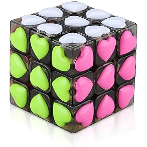 Excelvan YJ8612 - 3x3x3 Puzzle Cubo Mágico Rompecabezas Juego Educativo (Corazón, Amor, Magic Cube,
