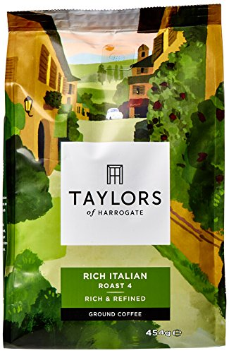 Taylors of Harrogate Rich Italian Ground Coffee 454 g (Pack of 4)