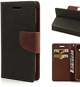 Friends Electronics Mercury Brown Leather + Rubber Back cover for Reliance Lyf Wind 6