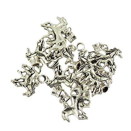 sharprepublic 10er Pack Vintage Anhänger Charms Beads Schmuck Anhänger für Halskette