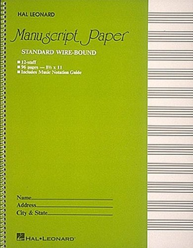 STANDARD WIREBOUND MANUSCRIPT PAPER (GREEN COVER) By Hal Leonard Publishing Corporation (Author) Paperback on 01-Feb-1986