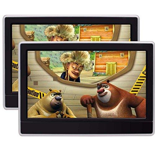 Dual-Kopfstütze DVD-Player 11,6-Zoll-HD-Digital-TFT-LCD-Schirm-Auto-Kopfstützen-Monitor mit HDMI-Anschluss und Fernbedienung Game Disc Gamepad-Unterstützung USB / SD Dual-hd-dvd