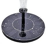 Solar Springbrunnen, Minger Solar Teichpumpe mit 1.4W Monokristalline Solar Panel freistehende Teich Solarpumpe mit 4 Düsen, Solar schwimmender Brunnen Wasserpumpe für Vogelbad Teich Pool See Aquarium Garten Terrasse