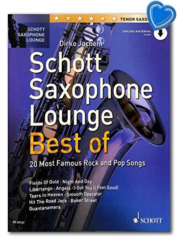 Schott Saxophone Lounge BEST OF - 20 Most Famous Rock and Pop Songs für Tenor-Saxophon - Ausgabe mit Online-Audiodatei, Notenklammer - Verlag Schott Music ED23127 9783795716066